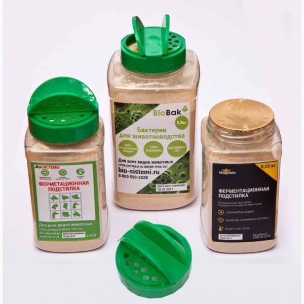 Сухие смеси для выращивания полезных бактерий в подстилке