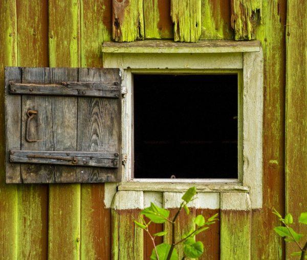Дверь с окном для сарая
