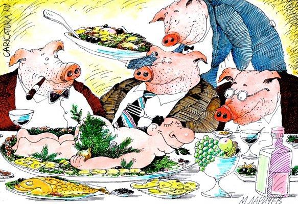 карикатура на свиней